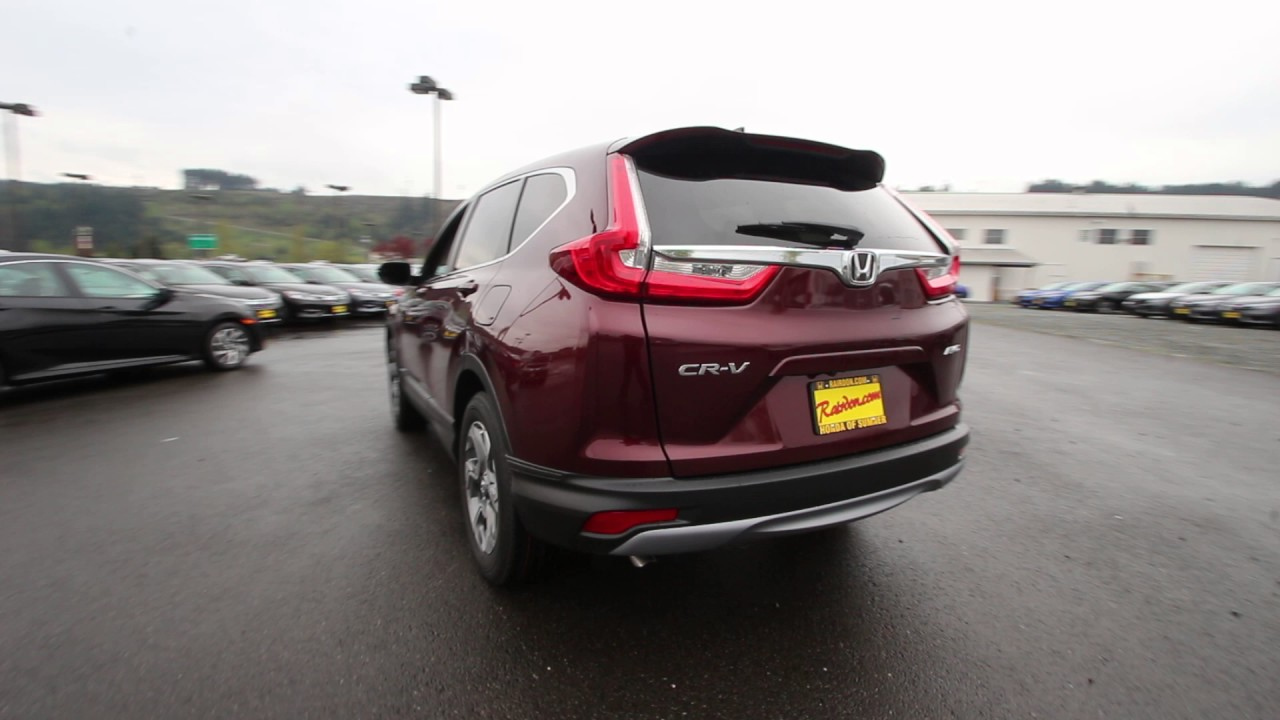 2017 Honda Cr V Ex L Basque Red Pearl Hh627181 Seattle Sumner