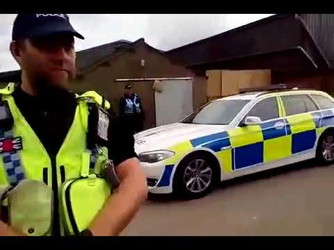 North Yorkshire Police Line up and slow walk Third Energy Trucks on their own!