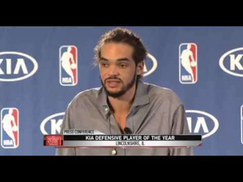 Joakim Noah answers in French during DPY press conference