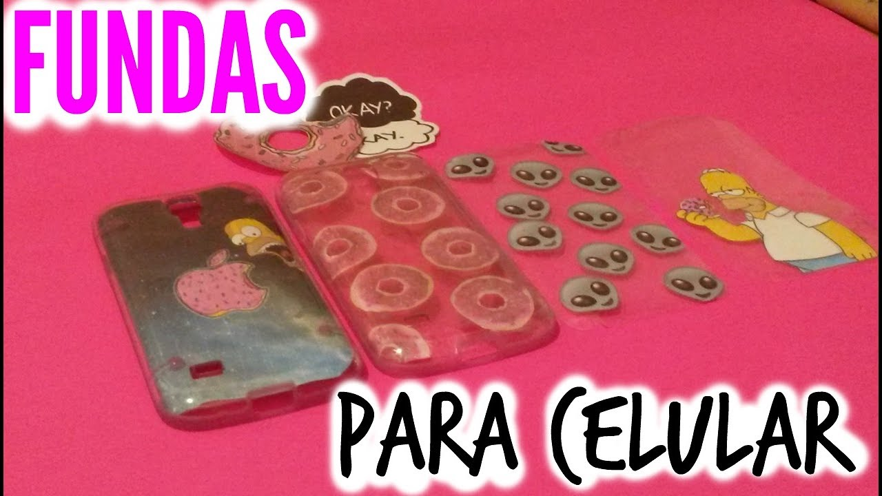Diy como hacer fundas para celular tumblr facil y rapido valechic youtube - Como decorar una funda de movil ...