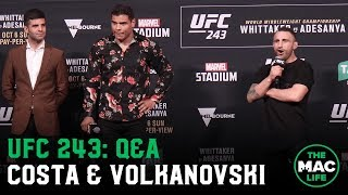 UFC 243: Q&A with Paulo Costa, Alexander Volkanovski & a few cheeky Australians