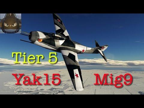 War Thunder JET SIM - Long Game - Yak15 & Mig 9