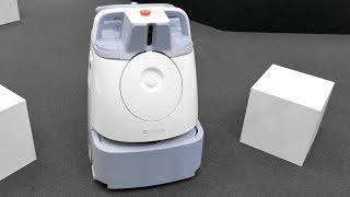 """【4K】SoftBank Robotics「ソフトバンクの """" Pepper """"に続く第2弾ロボ、AI清掃ロボット """" Whiz """"」2018.11.20 @東京ビッグサイト"""