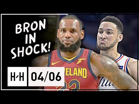 Ben Simmons vs LeBron James AMAZING Triple-Doubles Duel Highlights (2018.04.06) - KING vs PRINCE!