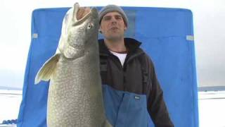 Monster Lake Trout Ice Fishing Video