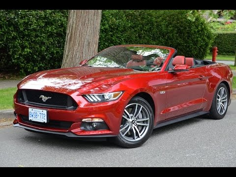 2015 Ford Mustang Convertible Review - YouTube