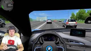 СЫН ДЕПУТАТА УСТРОИЛ ГОНКИ ПО МОСКВЕ - RP City  Car Driving + РУЛЬ