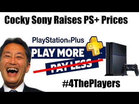 Arrogant Sony Raises PlayStation Plus Prices, But Remember They