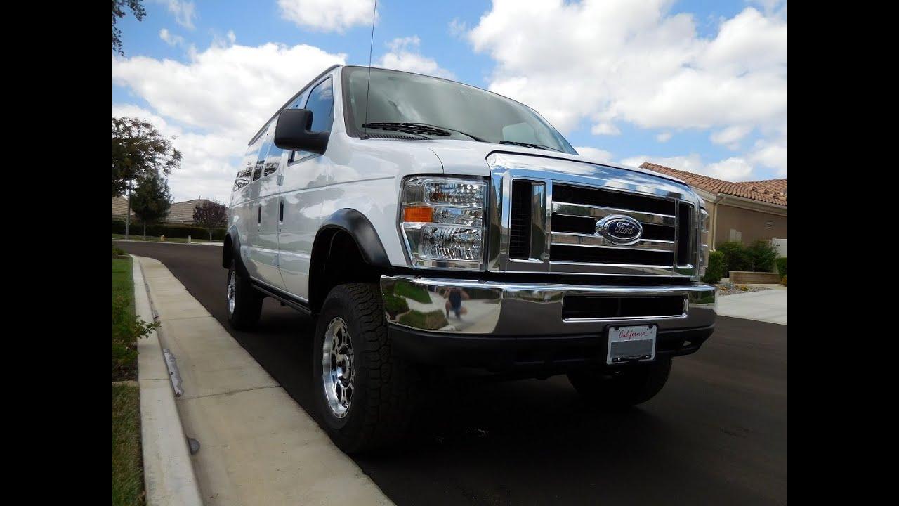 30-2014 Ford E350 4x4 Super Duty Quadvan walk around - YouTube