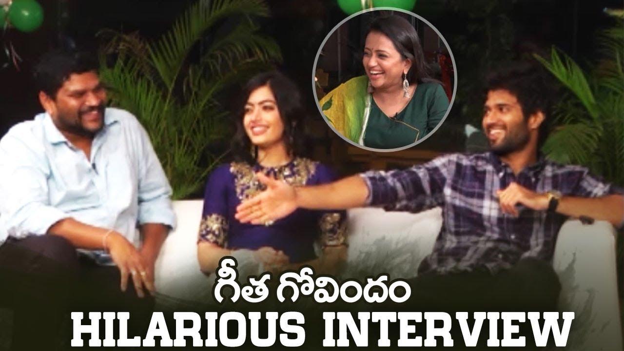 Anchor Suma Interviews Geetha Govindam Team | Super Fun | Vijay Devarakonda | Rashmika | Manastars