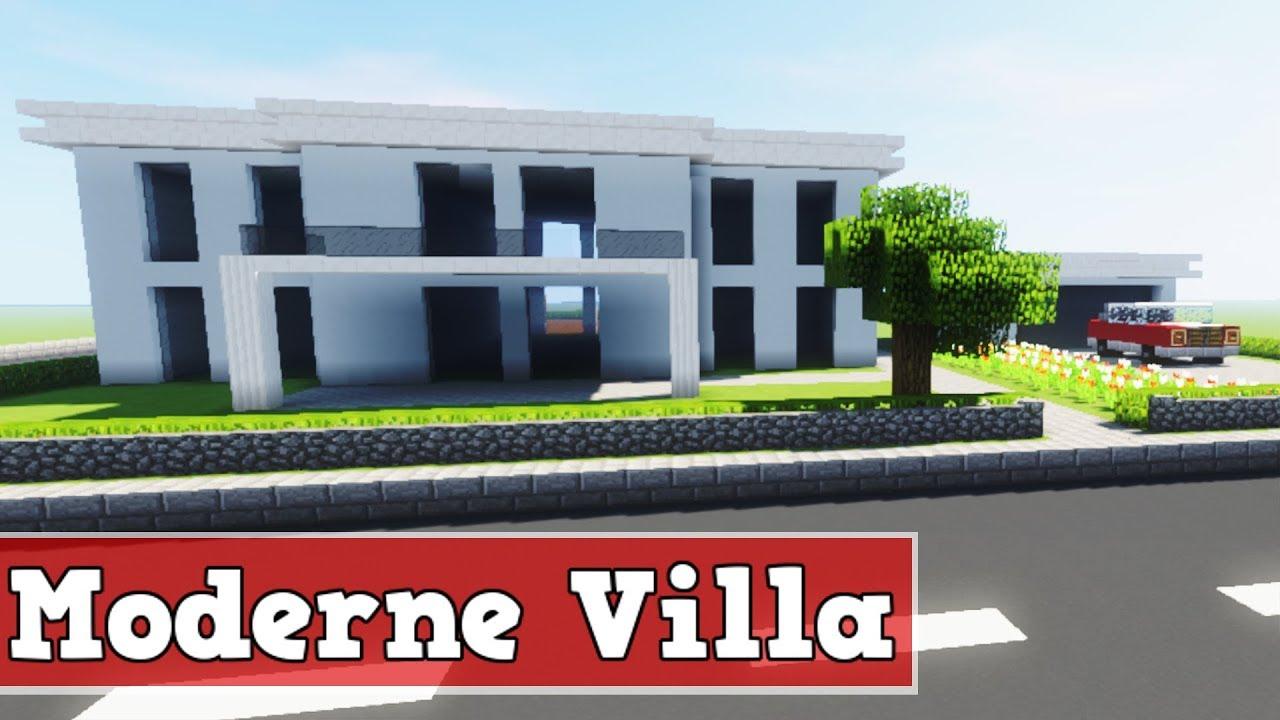 Wie baut man eine moderne Villa in Minecraft | Minecraft Moderne Villa  Bauen Deutsch