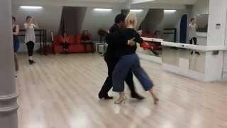 Тема урока: Танго салон. Классическая красивая связка. Ревью.