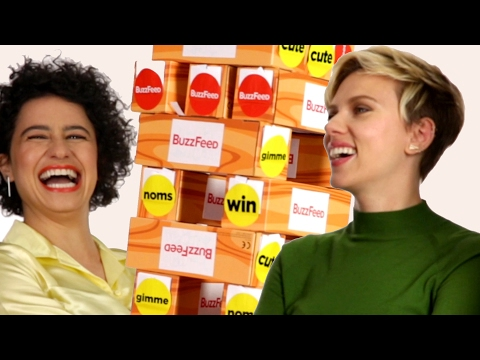 "The ""Rough Night"" Cast Plays Giant Jenga"