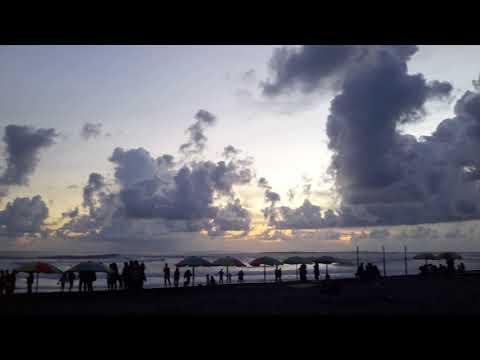 Beautiful clouds at sunset at Parangtritis beach, south of Yogjakarta, Java, Indonesia