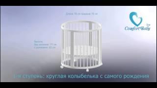 ❤Инструкция по сборке детской кроватки-трансформера ComfortBaby 7в1 с 0 до 9 лет