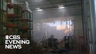 F-16 crashed into California warehouse with workers inside