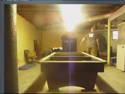 How To Disassemble A Slate Pool Table Videomp YouTube - Brunswick dunham pool table