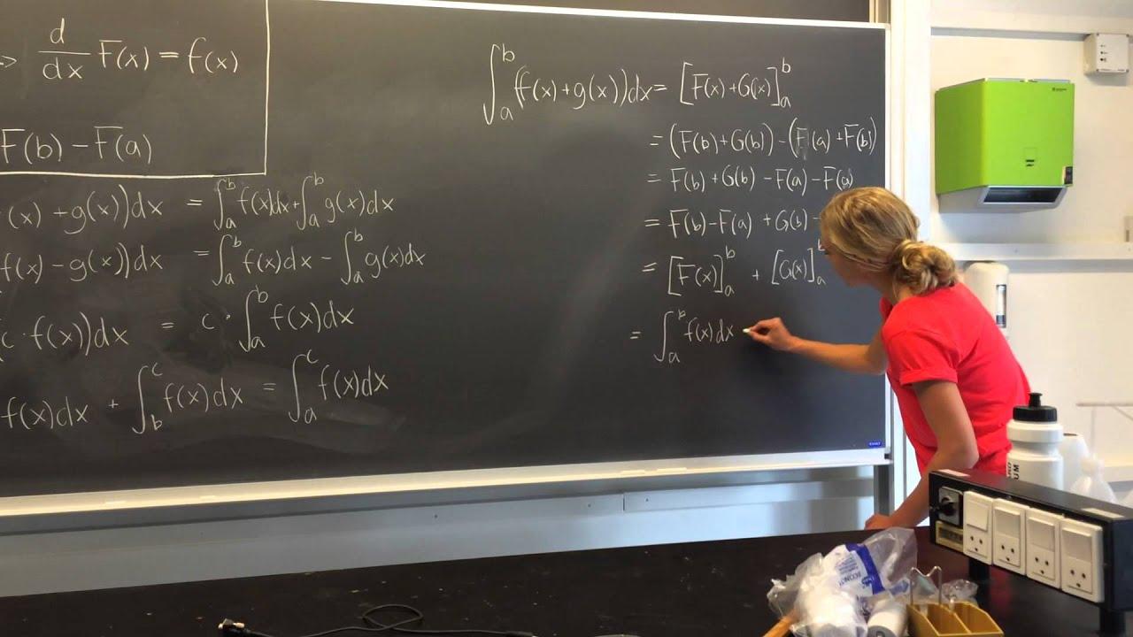 Bestemte integraler - mundtlig præsentation