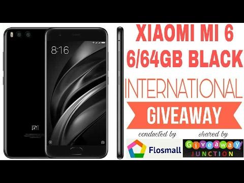Win A Free Xiaomi Mi6 (6GB-64GB) Black From Flosmall