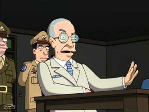 Harry S Truman interrogates Dr. Zoidberg