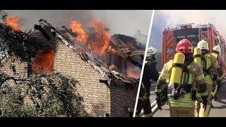 ZAHLREICHE VERLETZTE: Flammen an ICE-Strecke setzen Häuser in Brand