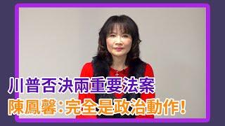 川普否決兩重要法案 陳鳳馨:完全是政治動作看誰可用!【Yahoo TV】