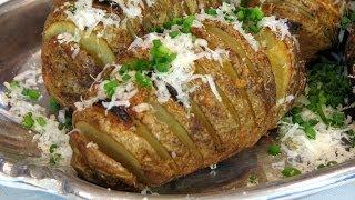 Baked Hasselback Potatoes -- Lynn's Recipes