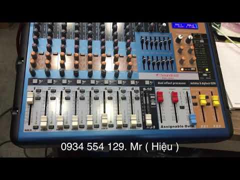 Test mixer liền công suất Soundcraft PMX-806D. LH 0934554129