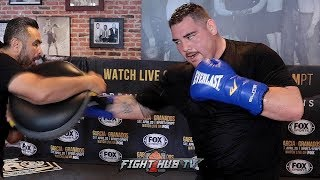 ANDY RUIZ JR DISPLAYING TERRIFYING POWER & SPEED ON THE MITTS DURING WORKOUT
