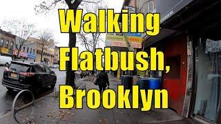 ⁴ᴷ⁶⁰ Walking Flatbush, Brooklyn, NYC : Avenue H, Brooklyn College, Flatbush Avenue to Church Avenue