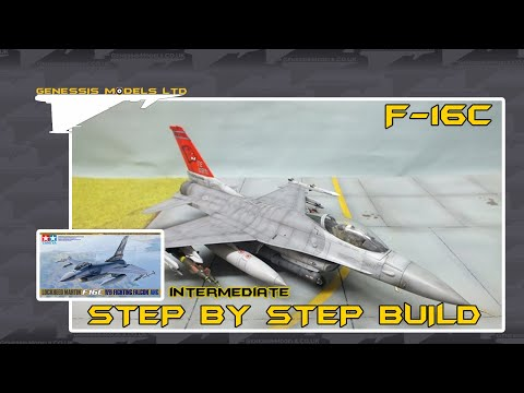 Tamiya : F-16C Fighting Falcon : 1/48 Scale : Rapid Video Build : Episode.1