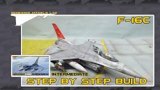 Тамія : Ф-16С файтинг Фолкон : 1/48 масштаб : Швидке відео збірки : епізод.1