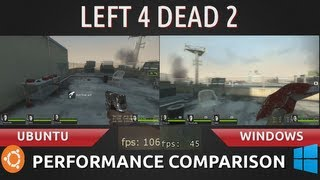 Ubuntu 13.04 VS Windows 8: Left 4 Dead 2 Comparison with Screen Recorders