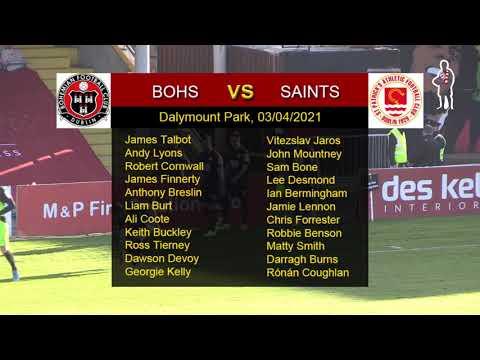 Highlights: Bohs 0 - Saints 1 (03/04/2021)