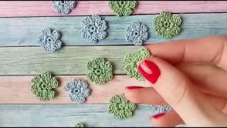 Вязание крючком. Цветы крючком. Видео мастер класс для начинающих.