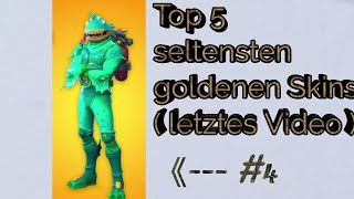 🏆 Top 5 Rarest Goldenskins in Fortnite 🏆 / RayZ
