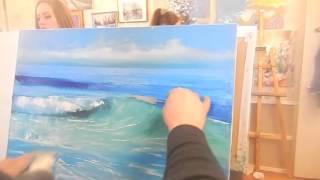 Игорь Сахаров, морской пейзаж, на учиться писать море маслом