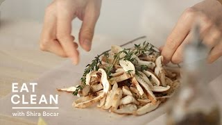 Steamed Shiitake Mushrooms And Brown Rice In Parchment - Eat Clean With Shira Bocar