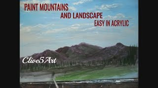 Acrylic Painting,Lessons,Tips,Techniques,SKY,MOUNTAINS