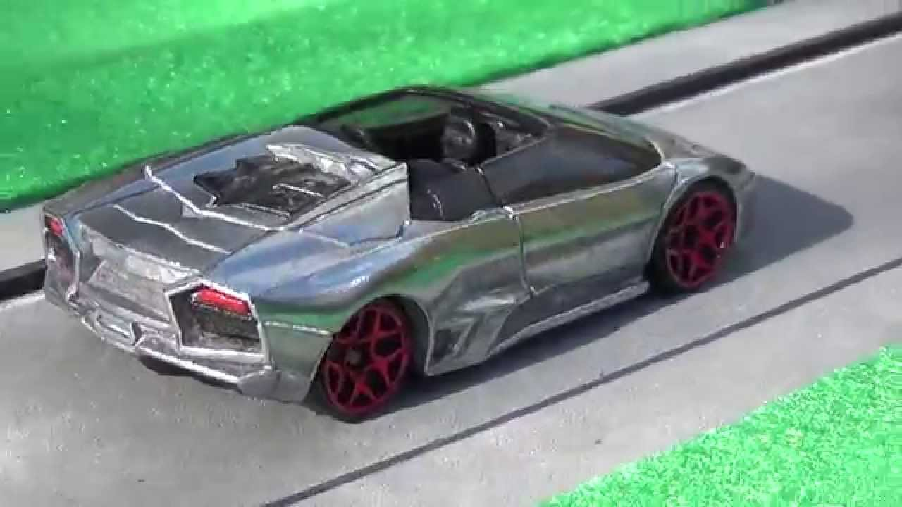 Custom Hot Wheels Lamborghini Reventon Roadster In Bare Metal Youtube