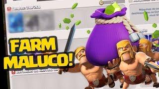 INCRÍVEL! FARMANDO MUITO NA TROLLAGEM CLASH OF CLANS