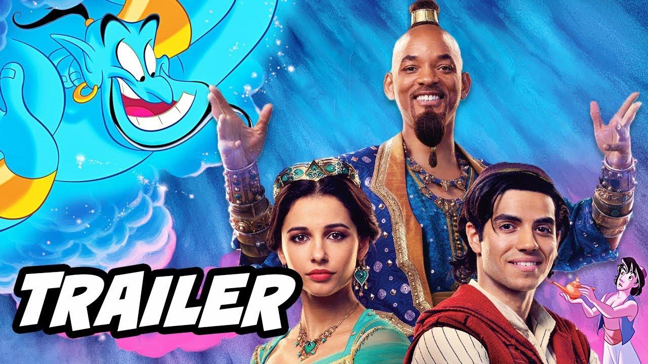 Aladdin Trailer: Aladdin Teaser Trailer 2 Will Smith Reaction And Disney