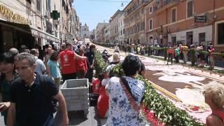 Flower festival in Genzano di Roma