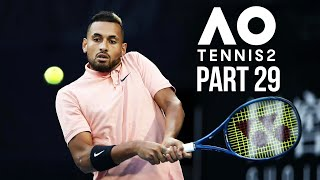 AO TENNIS 2 Career Mode Part 29 - GRAND SLAM FINAL AGAINST KYRGIOS