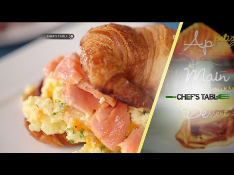 Scramble Egg with Salmon in Croissant - Chef's Table
