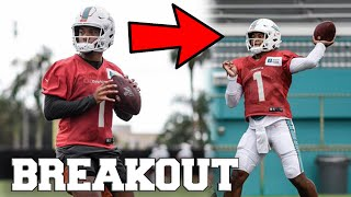 TUA TAGOVAILOA BREAKS OUT IN NFL TRAINING CAMP! MIAMI DOLPHINS QB COMPETITION WITH JOSH ROSEN