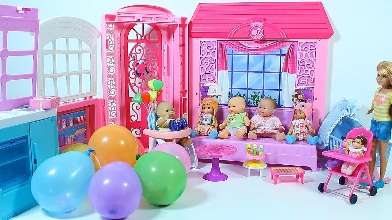 Baby Doll Birthday Balloons With Surprises Care Video For Kids