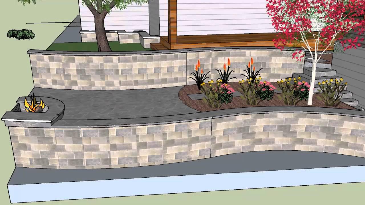 3d Google sketchup frontyard landscaping Westminster colorado - YouTube