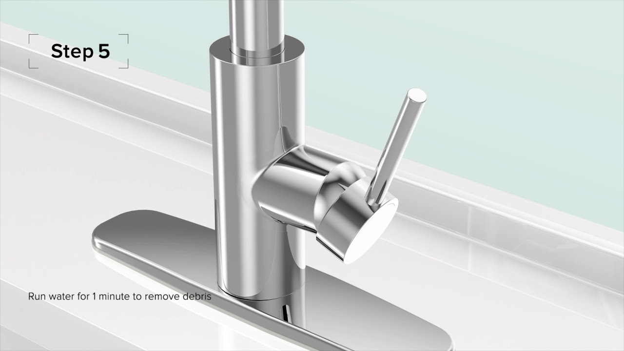 Kraus Easy Install Kitchen Faucets Installation Video Youtube
