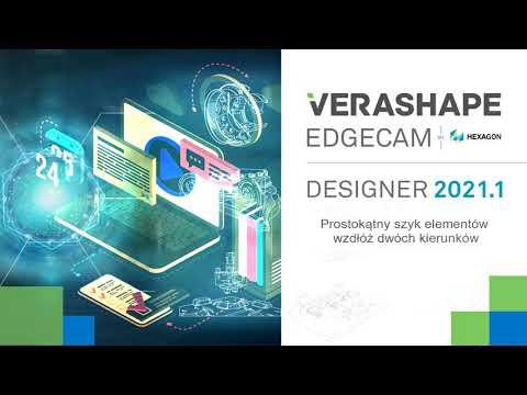 EDGECAM Designer 2021.1 - Tworzenie szyku elementów wzdłuż dwóch kierunków